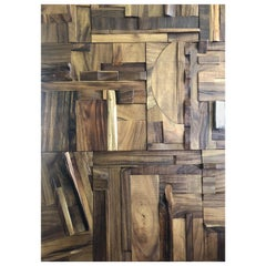 Random Parota Hardwood Collage Panels Sold by the Sq/Ft