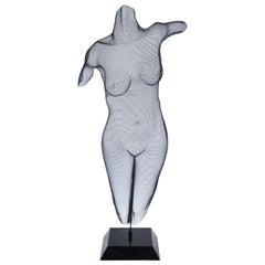 Randy Cooper Post-Modern 'Andrea' Wire Mesh Nude Sculpture