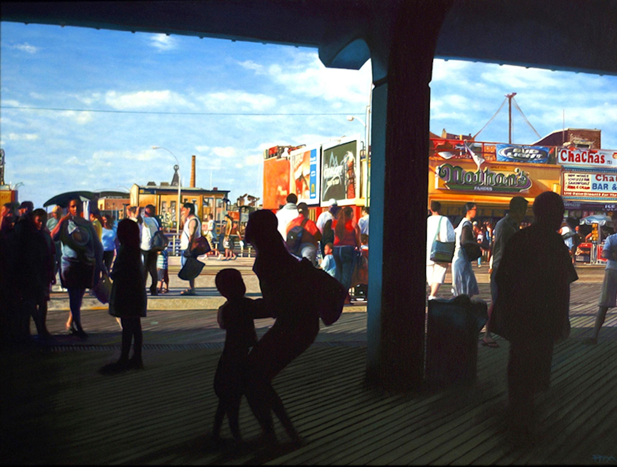 Coney Island  -- Original Oil Painting -- Please watch attached video