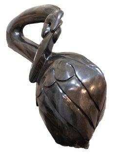 'Scratching Bird' original Shona stone sculpture signed by Rangarirai Makunde