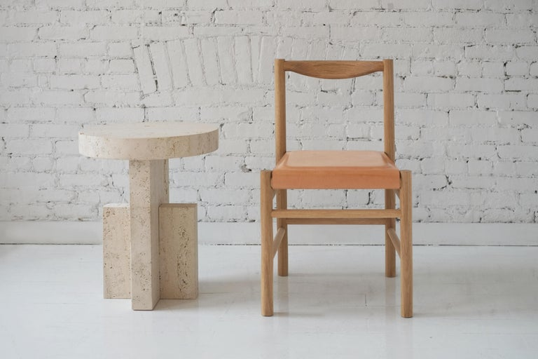 Wood Range Dining Chair in Walnut and Shearling by Fort Standard, In Stock For Sale 7