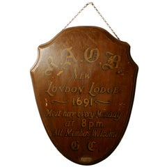 R.A.O.B Buffaloes, New London Lodge 1691, Oak Wall Plaque / Shield