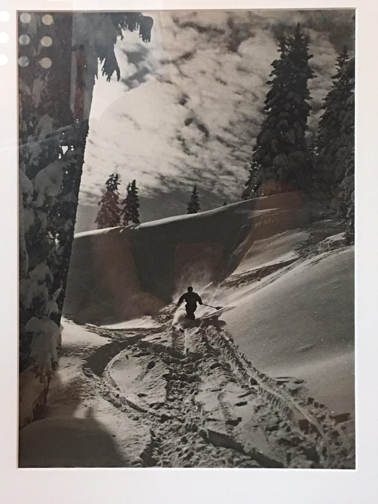Mid-Century Modern Raoul Doucet Downhill Skiing Photograph