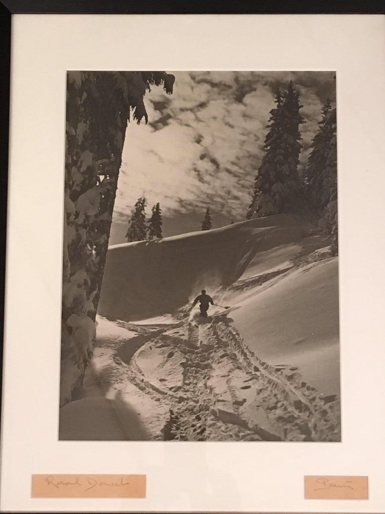 French Raoul Doucet Downhill Skiing Photograph