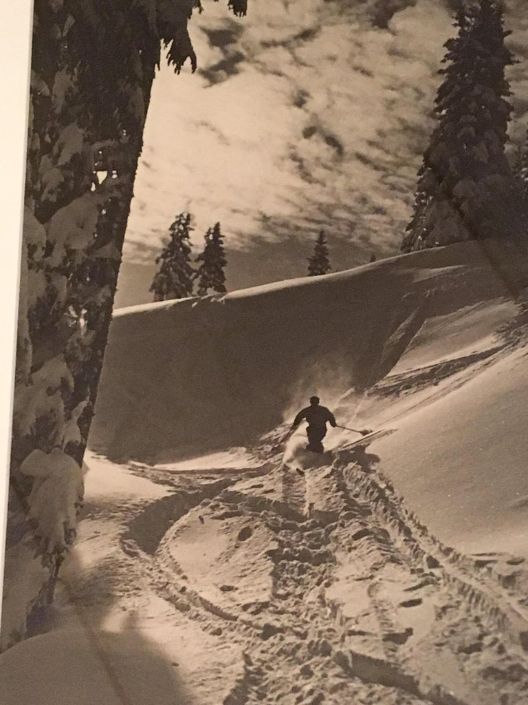 Raoul Doucet Downhill Skiing Photograph In Good Condition In Philadelphia, PA