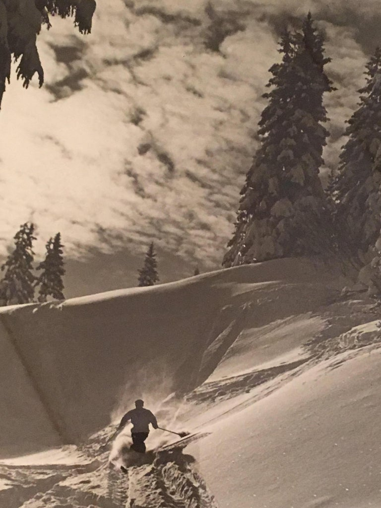 Paper Raoul Doucet Downhill Skiing Photograph