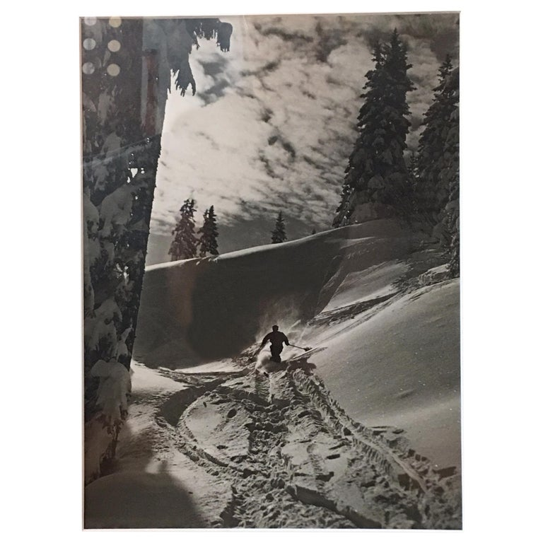 Raoul Doucet Downhill Skiing Photograph