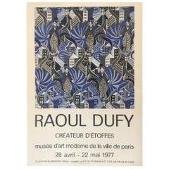 Raoul Dufy 'Createur D'etoffes' 1977 Original Vintage Poster