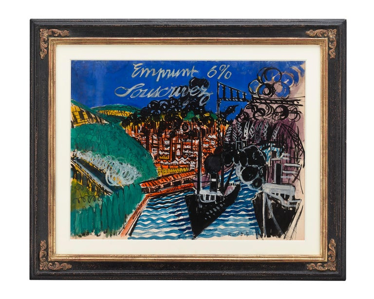 Emprunt 6% Souscrivez (War Loan 6% Subscribe) by Raoul Dufy For Sale 1