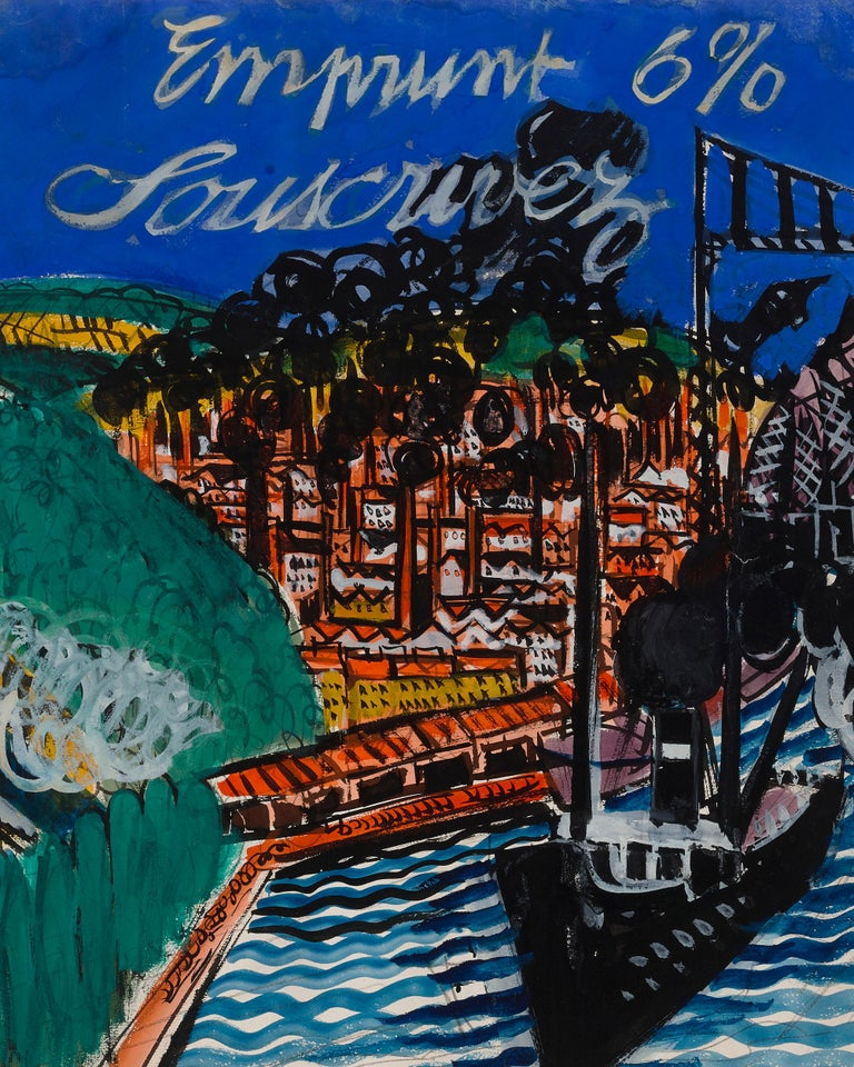 Emprunt 6% Souscrivez (War Loan 6% Subscribe) by Raoul Dufy For Sale 2