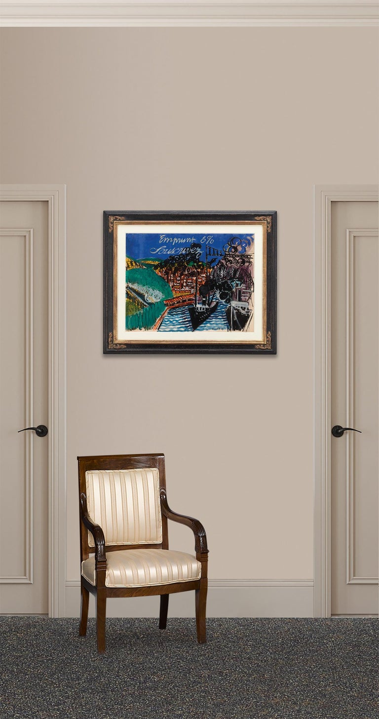 Emprunt 6% Souscrivez (War Loan 6% Subscribe) by Raoul Dufy For Sale 4