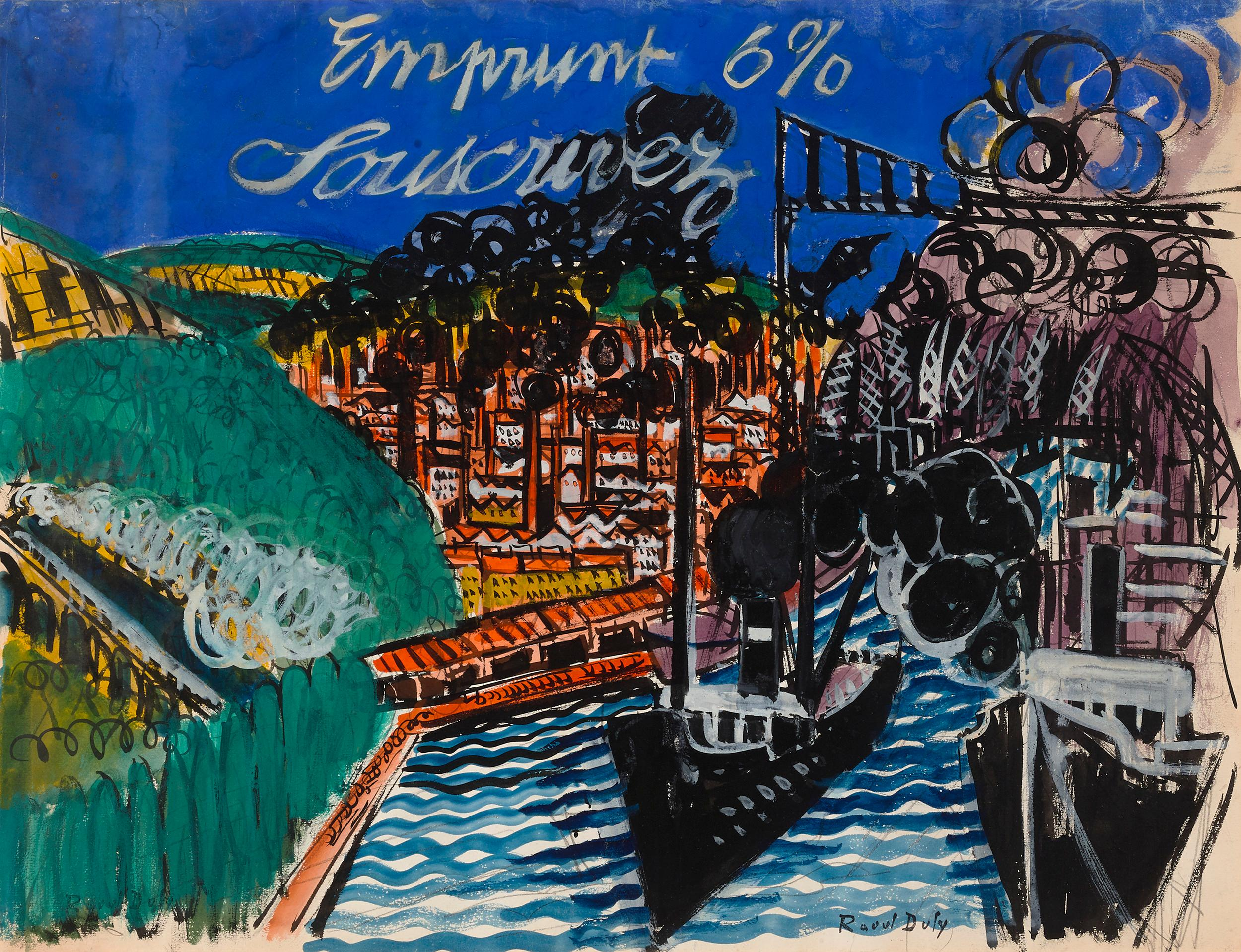 Emprunt 6% Souscrivez (War Loan 6% Subscribe) by Raoul Dufy