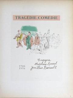 1959 After Raoul Dufy 'Tragedie, Comedie' Impressionism White France Lithograph