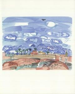 1965 Raoul Dufy 'Au Maroc' Impressionism France Lithograph