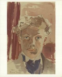 1965 Raoul Dufy 'Autoportrait' Impressionism France Lithograph