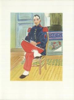 1965 Raoul Dufy 'Le Flutiste, Replique' Impressionism France Lithograph