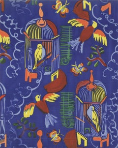 1965 Raoul Dufy 'Les Oiseaux' Impressionism Blue,Yellow,Red,Green France Lithogr