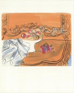 1965 Raoul Dufy 'Nature Morte' Impressionism France Lithograph