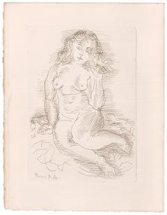 Amphitrite Nude Etching