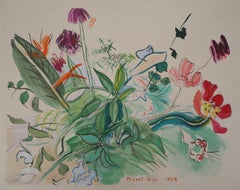 Bunch of Flowers - Original Lithograph