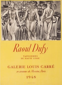 Galerie Louis Carré, 1948 by Raoul Dufy - lithographic poster