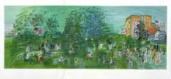 Hippodrome Ascot Racecourse - Tall Lithograph Signed in the Plate (Mourlot)