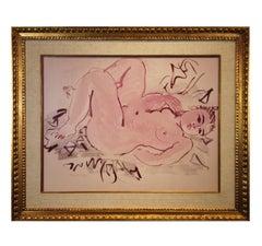 Post-Impressionist Reclining Nude Print