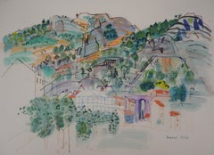 Provence : Village in the Mountain - Original Lithograph