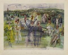 """""""Racecourse-Champ de Courses-Rennplatz"""" Poster, No. 1664"""