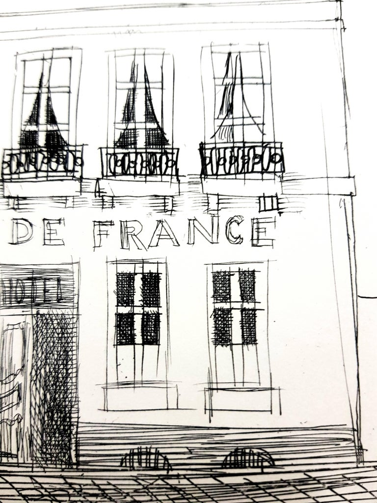Raoul Dufy - A L'Ecu de France - Original Etching From the limited edition book