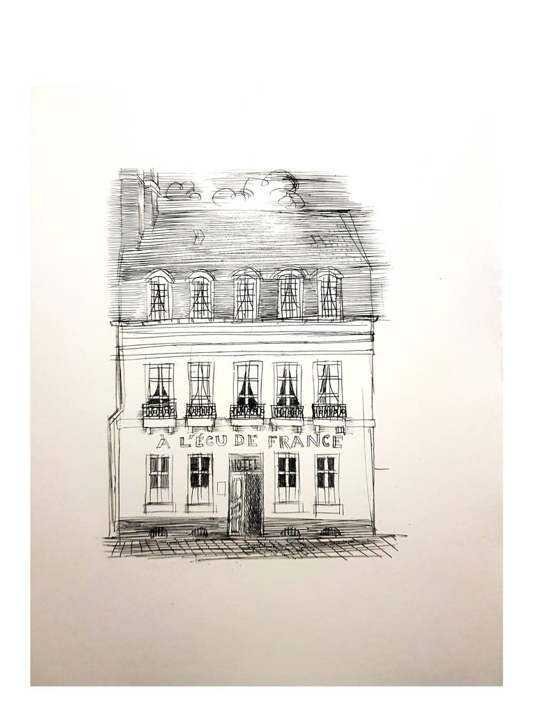 Raoul Dufy - A L'Ecu de France - Original Etching For Sale 1