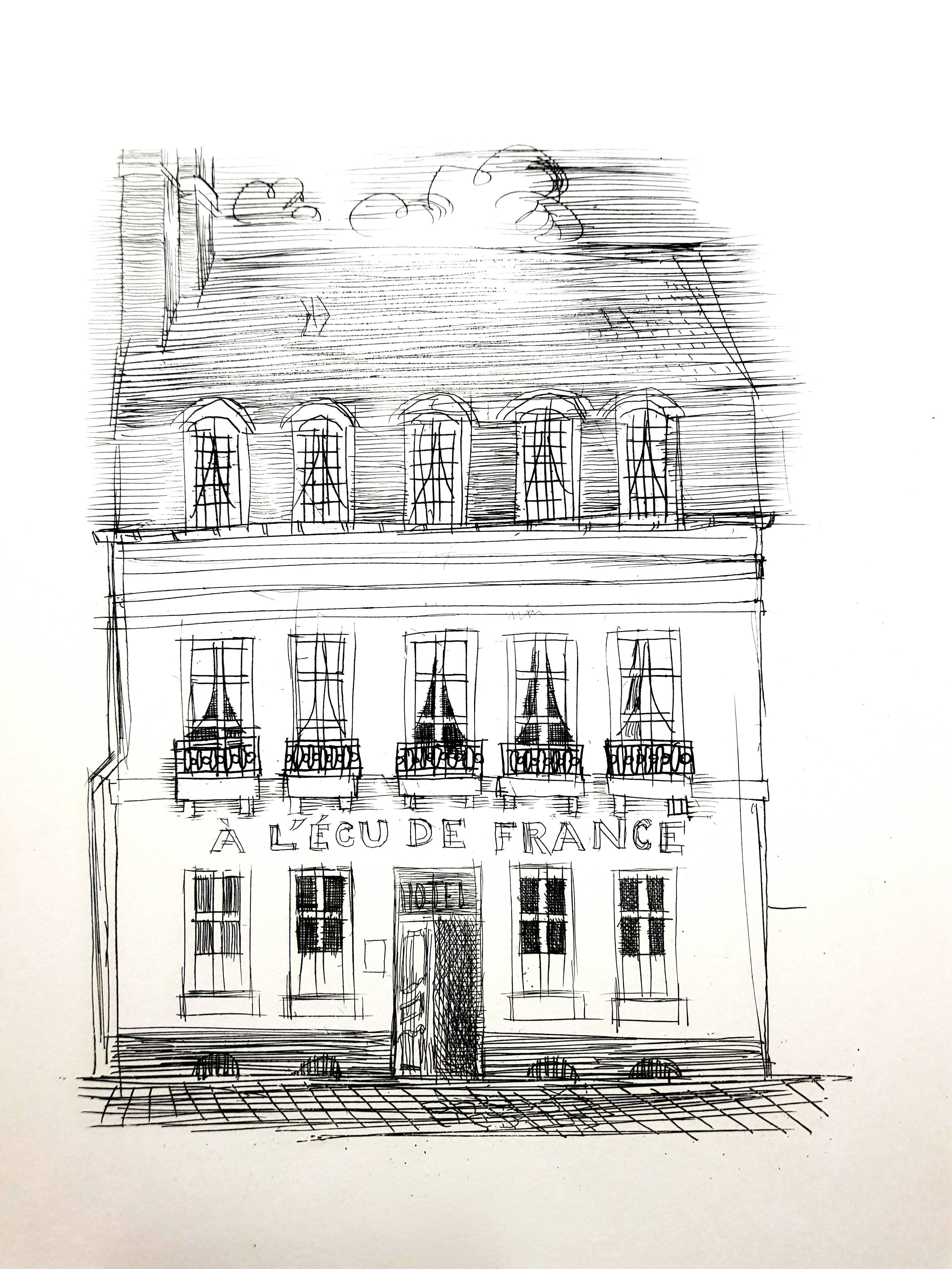 Raoul Dufy - A L'Ecu de France - Original Etching