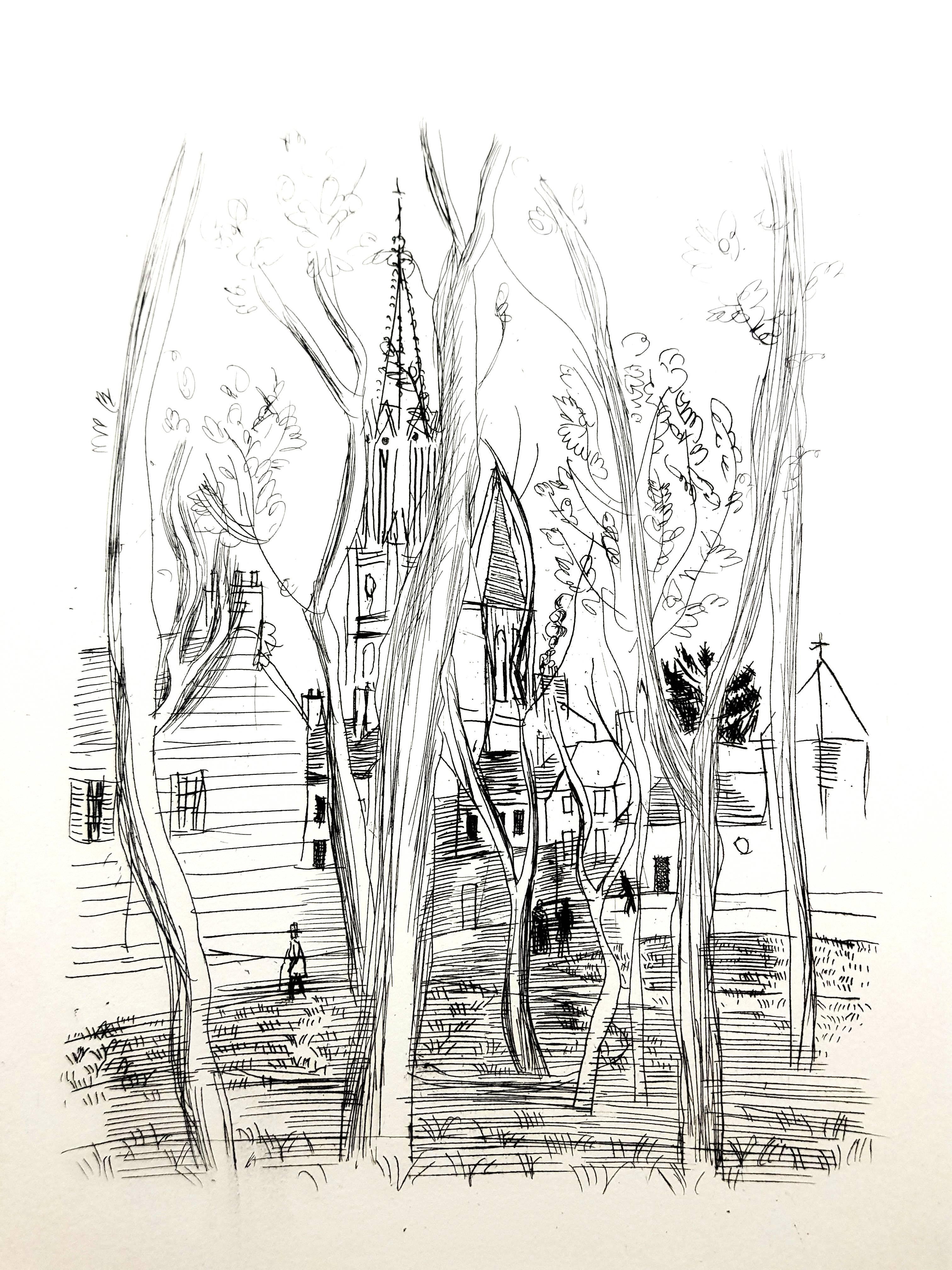 Raoul Dufy - Village - Original Etching