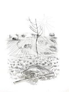 Raoul Dufy - Champs Français - Original Etching