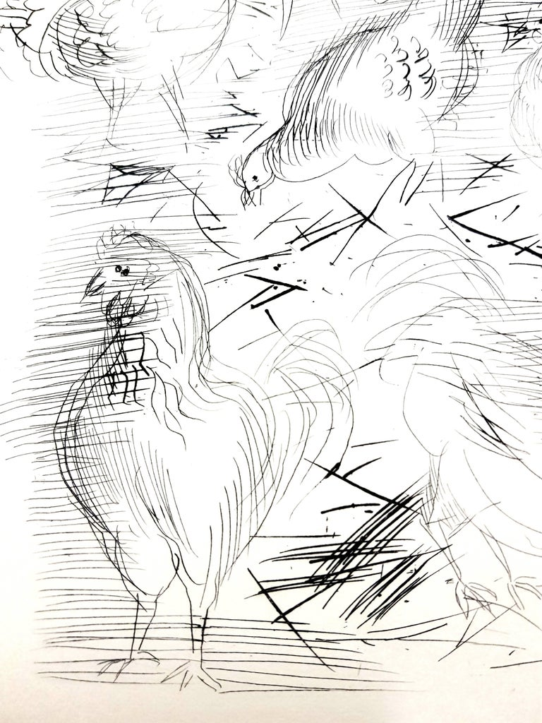 Raoul Dufy - Chickens - Original Etching - Modern Print by Raoul Dufy