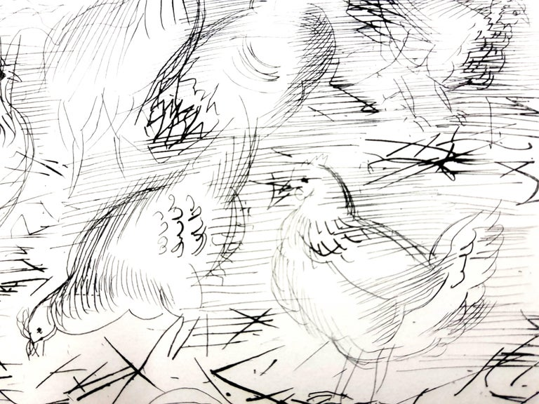 Raoul Dufy - Chickens - Original Etching Dimensions: 13 x 10