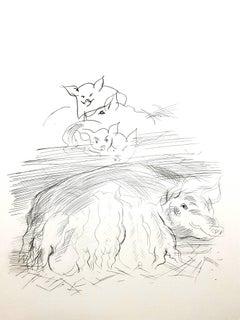 Raoul Dufy - Farm Pigs - Original Etching