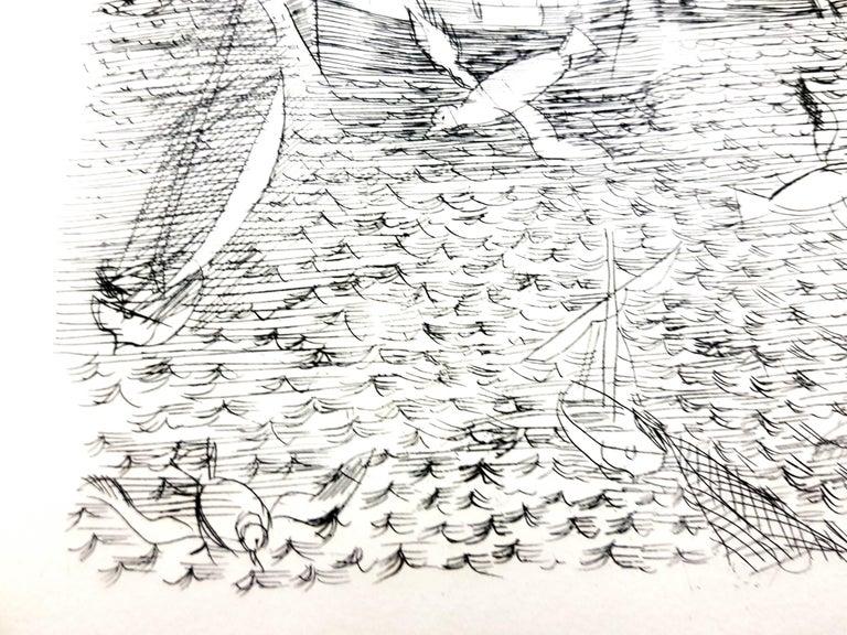 Raoul Dufy - Freedom - Original Etching - Modern Print by Raoul Dufy