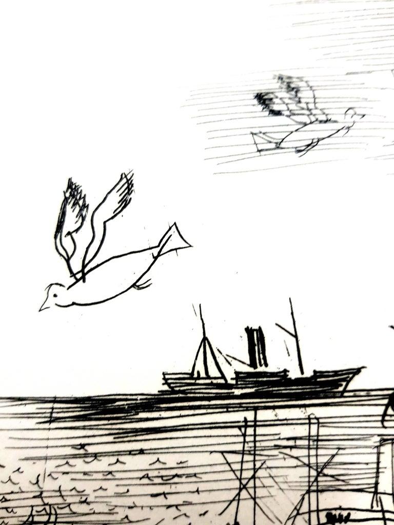 Raoul Dufy - Freedom - Original Etching Dimensions: 13 x 10