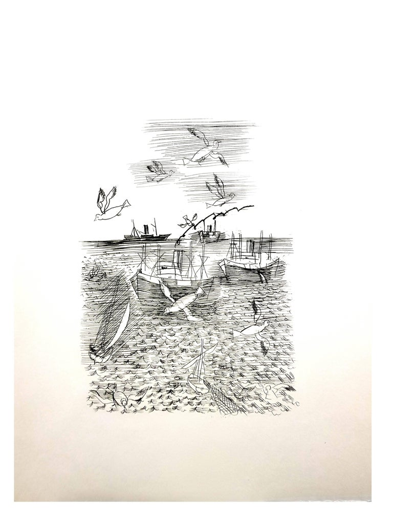 Raoul Dufy - Freedom - Original Etching For Sale 2