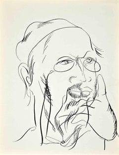 Self-Portrait - Original Lithograph by Raoul Dufy - 1922