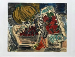 Still Life with Fruits - Lithograph Signed in the Plate (Mourlot)