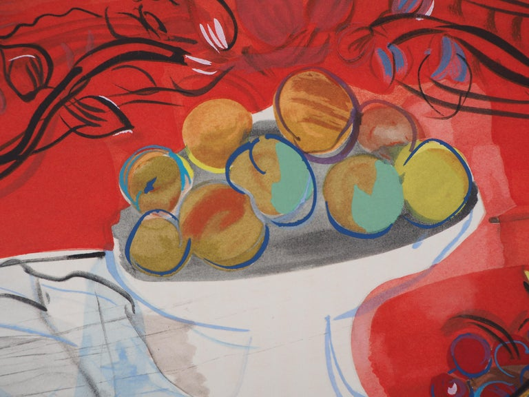 Still-Life with Fruits - Original Lithograph - Modern Print by Raoul Dufy