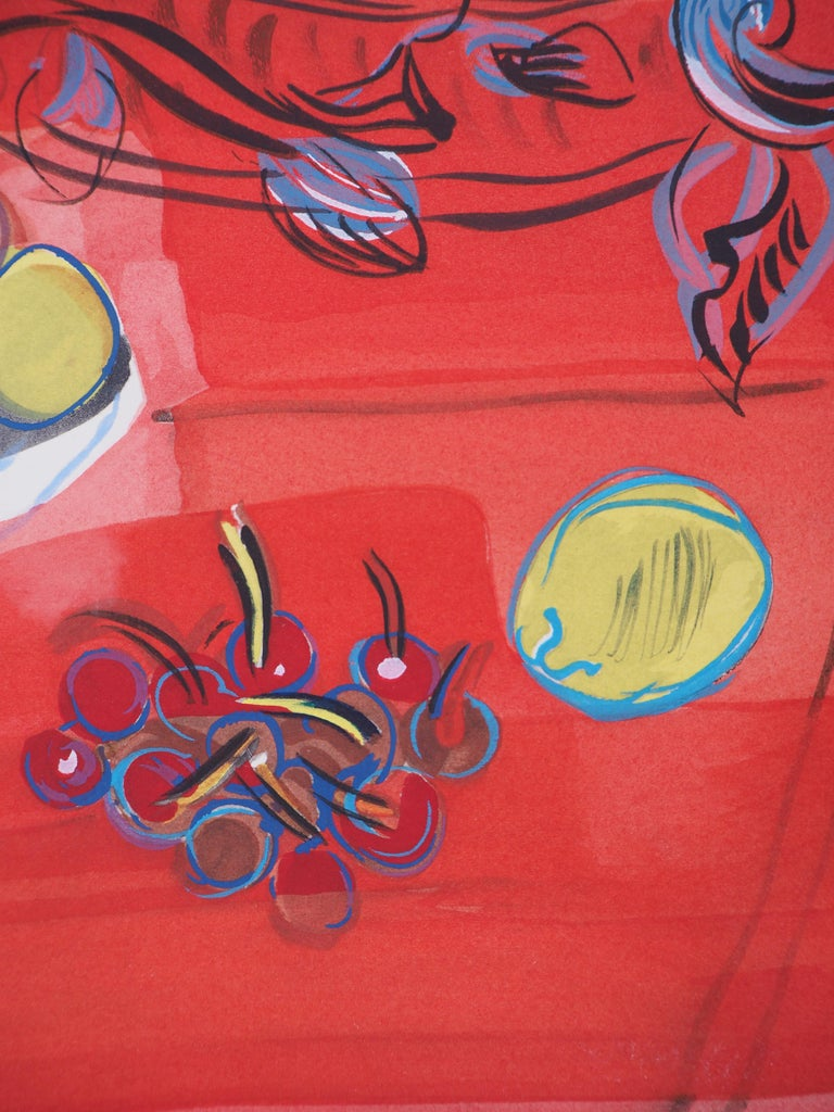 Still-Life with Fruits - Original Lithograph For Sale 1
