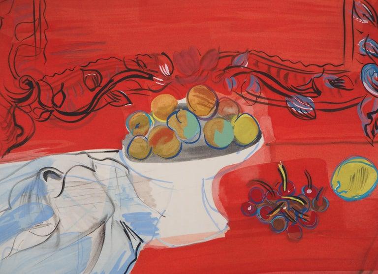 Raoul Dufy Still-Life Print - Still-Life with Fruits - Original Lithograph