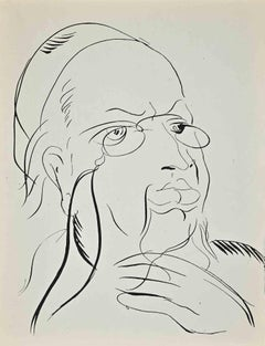 Study for Self-Portrait - Original Lithograph by Raoul Dufy - 1920