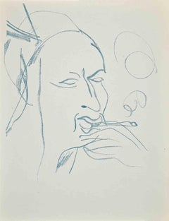 Study for Self-Portrait - Original Lithograph by Raoul Dufy - 1930s