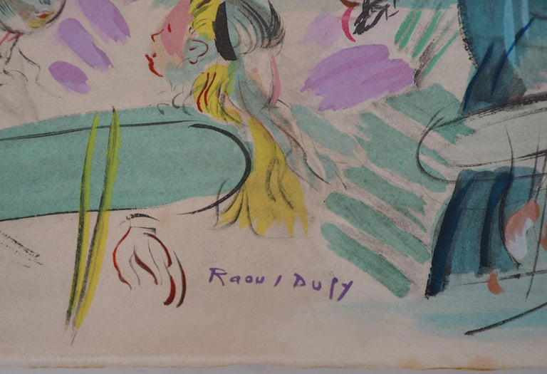 Tribute to Renoir : Dancing Cafe - Original Lithograph - Modern Print by Raoul Dufy