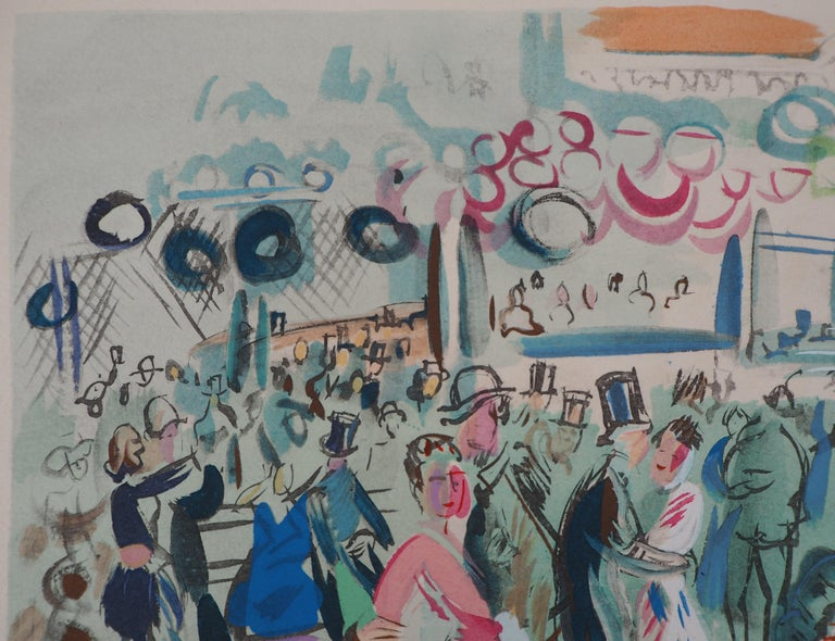 Raoul DUFY Dancing Cafe, 1953  Original Lithograph with stencil watercolor With printed signature in the plate On Arches vellum 28 x 38 cm (c. 11 x 15 inch)  Excellent condition