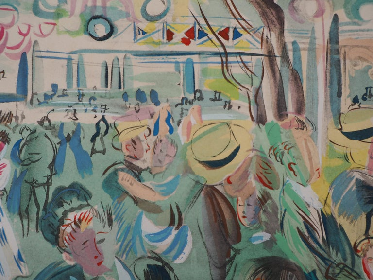Tribute to Renoir : Dancing Cafe - Original Lithograph For Sale 1